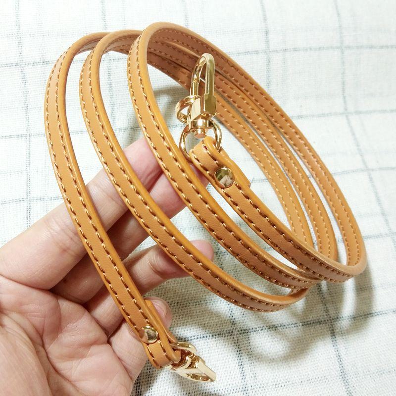 DIY Frauen-echtes Leder Beutel-Bügel 0.7 * 120cm Tasche Zubehör für Luxus-Tasche diagonalen Trageriemen Ersatz