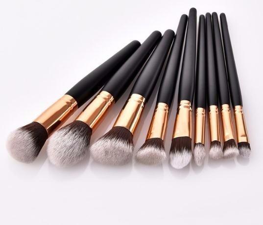 Herramientas de maquillaje profesional 1pc Maquillaje de madera Cosméticos Cejas Sombra de ojos Pincel de maquillaje Set de herramientas Pincel Maquiagem