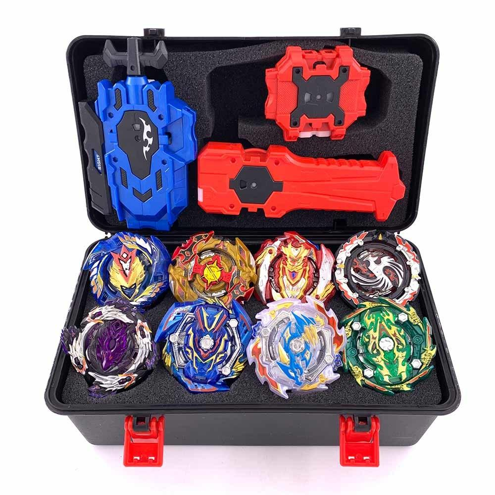 Top Beyblade Burst Bey Blade Toy Metal Funsion Bayblade Set Storage Box With Handle Launcher Plastic Box Toys For Children Y200109