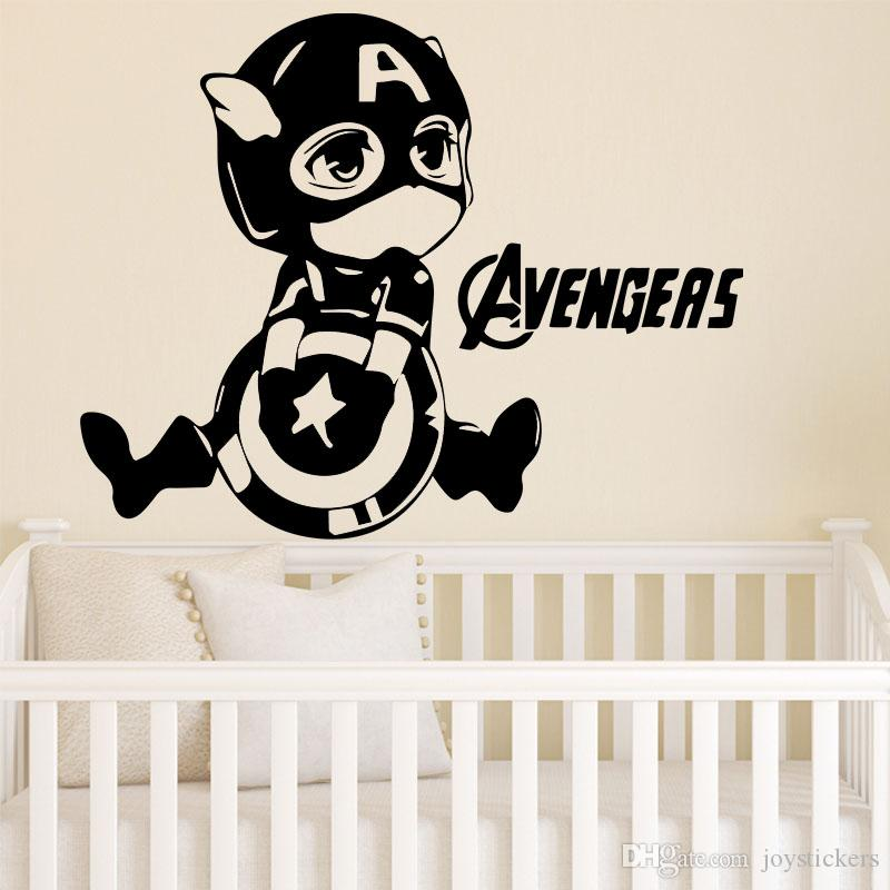 h and m home decor.htm creative design avengers pattern wall sticker for kids bedroom  avengers pattern wall sticker
