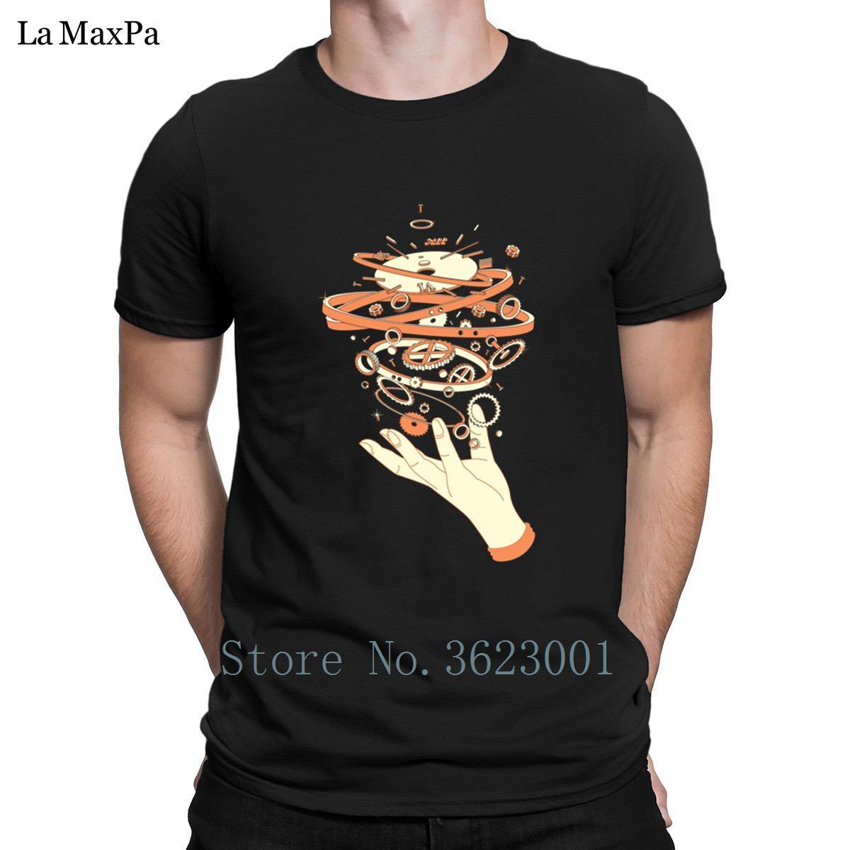 Erstellen Sie angepasstes T-Shirt für Männer Zeit-Controller-T-Shirt Herrenkleidung T-Shirt Slogan T-Shirt O Ansatz HipHop Tops