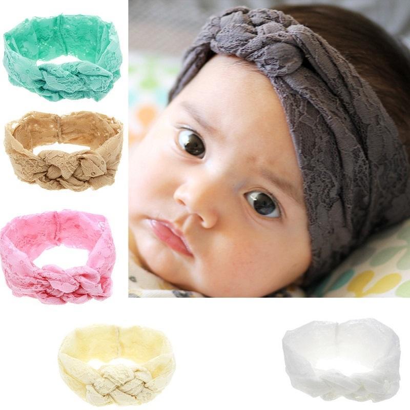 24 Adet Katı Dantel Geleneksel Çin Düğüm Elastik Saç Bantları Bantlar Bebek Çocuk Şapkalar Güzel Huilin DWH56