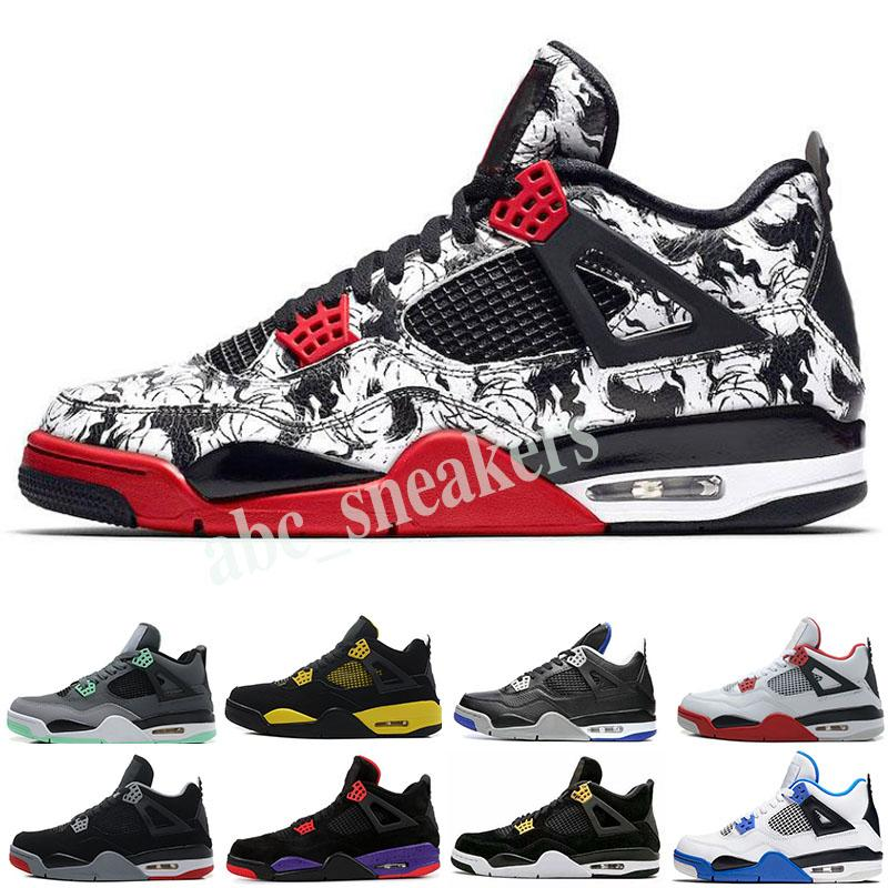 Nike Air Jordan 4 AJ4 Retro 2020 hot basketball shoes 4s Nero FIBA WHAT The Cool grey Breed SILT RED PURE MONEY WINGS 4 Мужские спортивные кроссовки traienrs b03