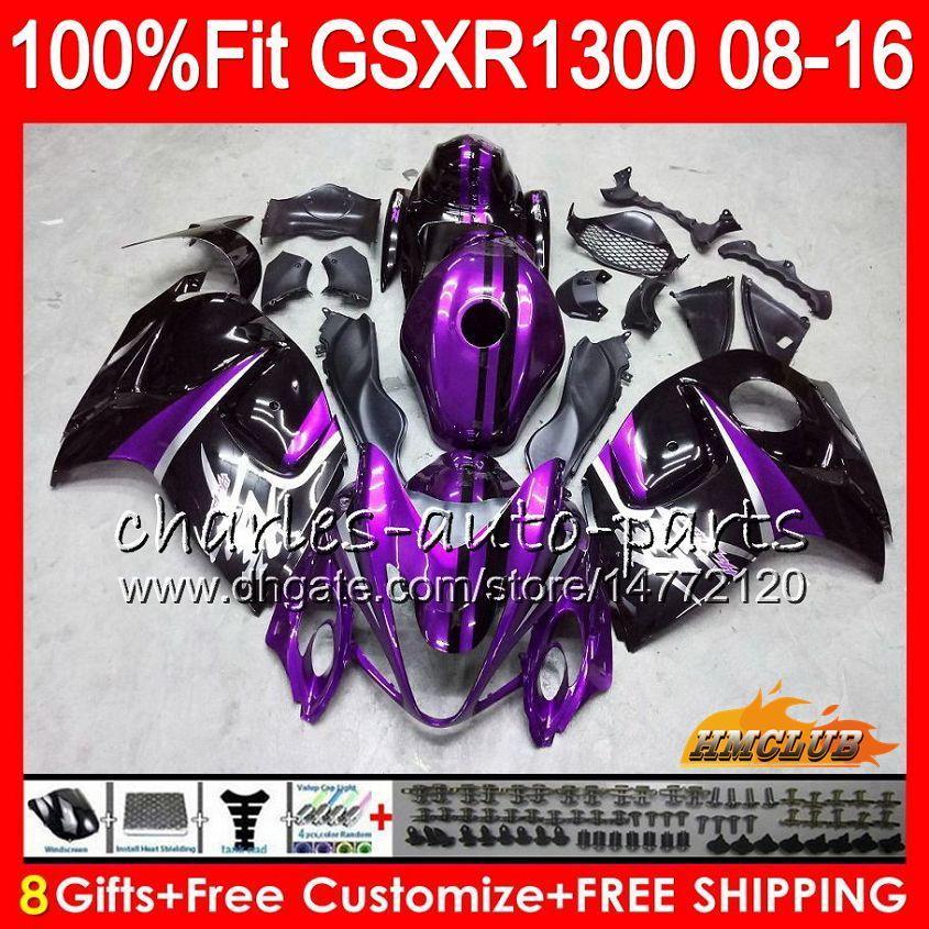 Injection Pour SUZUKI GSXR1300 Hayabusa violet noir 08 09 10 2008 2009 2010 25HC.21 GSXR 1300 GSXR-1300 11 12 13 2011 2012 2013 Carénage OEM