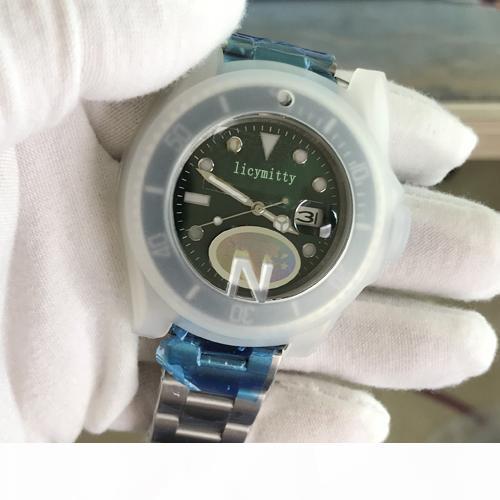 2020 relojes de los hombres Top V3 Versión ETA 2813 Reloj de pulsera resistente al agua 50M zafiro Bisel de cerámica del deslizamiento de bloqueo del reloj para hombre de acero sólido de cierre ST9