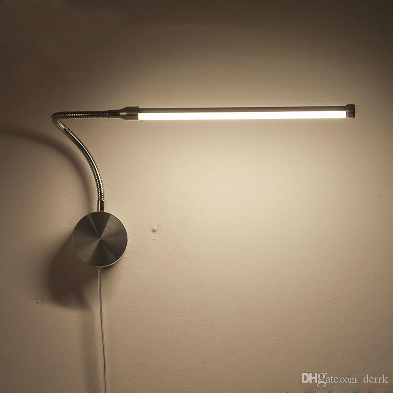 6 W LEVOU Arandelas de Parede Lâmpadas Com Plugue Europeu / American Plug Interior Quarto Lâmpada de Cabeceira Estudo Reading Iluminação AC90-260V