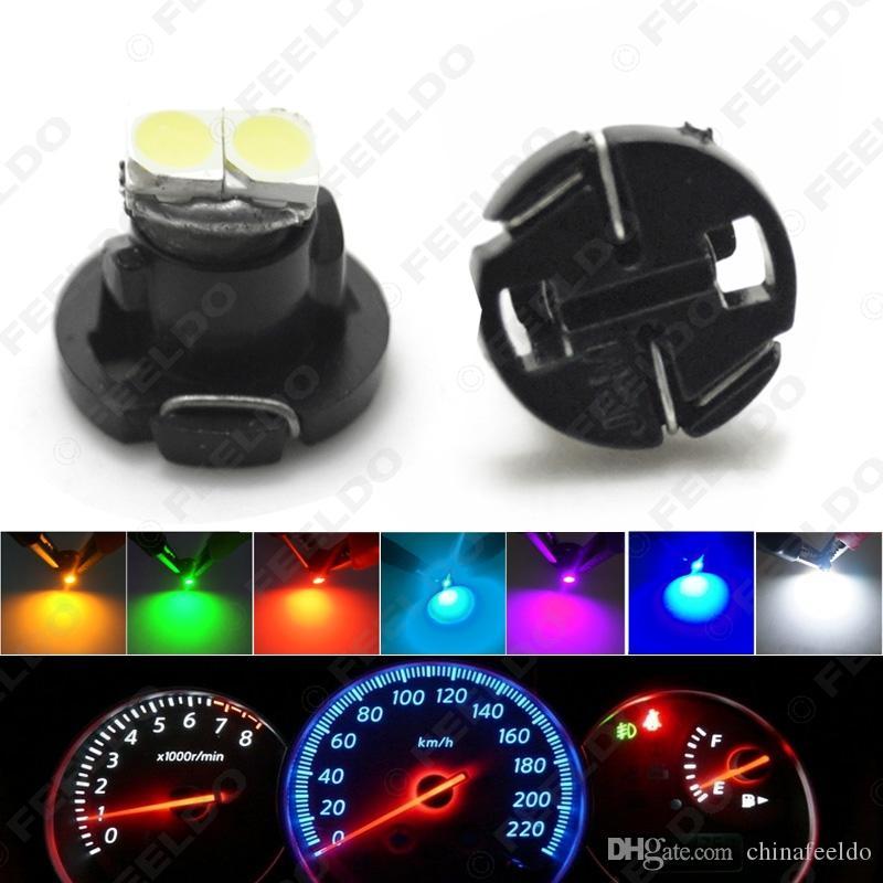 50PCS T4.2 2SMD 3,528분의 1,210 자동차 LED 대시 보드 미터 패널 전구 7 색) # 4771