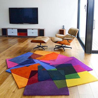 Criativo tapete artesanal sala de estar mesa de café em forma de tapete cor tapete moda personalidade em forma