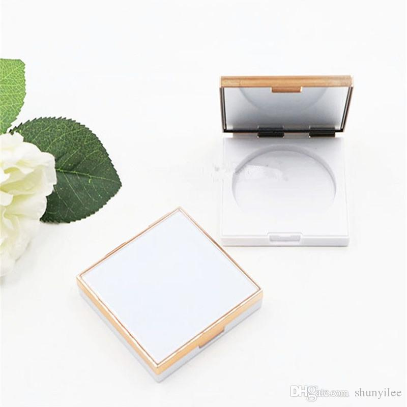 Empty Blusher Compact Cosmetic Powder Case Eyeshadow Containers Square Portable Lip Rouge Sub Packaging Box F2752