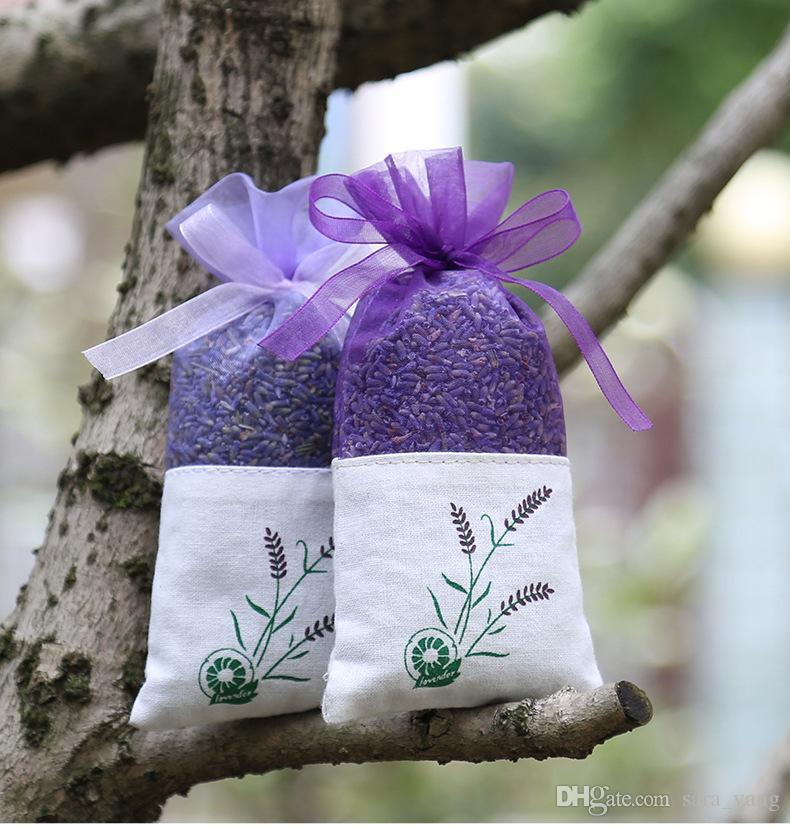 Purple Cotton Organza Lavender Sachet Bag DIY Dried Flower Sweet Bursa Wardrobe Mouldproof Gift Bag lin4577