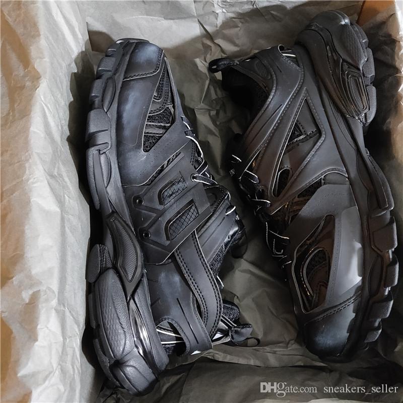 Track Trainers Sneakers Tess S Gomma Trek Low Men Women Sneakers Triple S Clunky Sports Casual Shoes With Dust Bag