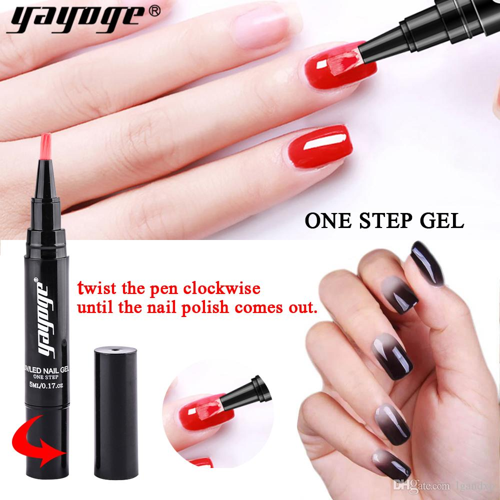 eb4b2beb86 Yayoge Gel Nail Polish Pen for Nail Art Glitter One Step Gel Pencil Soak  Off Varnish ...