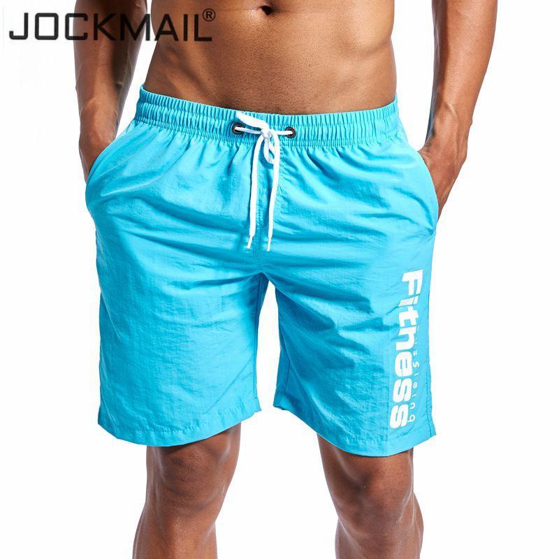 JOCKMAIL Marca 2018 New Verão Quick Dry Mens Shorts comprimento do joelho Mens Board Shorts Praia Curto Masculino Curto Hot Vendas