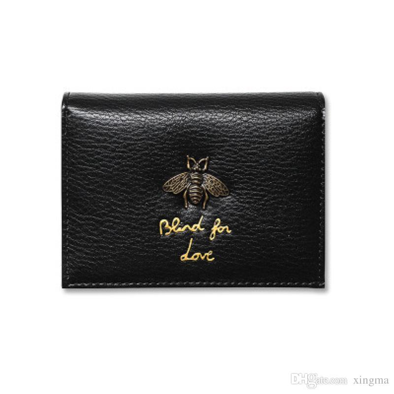 2018 Frauen Brieftasche Biene Luxus Designer Leder Honig Mode Leder Geldbörse Dame Kreditkarteninhaber Frau