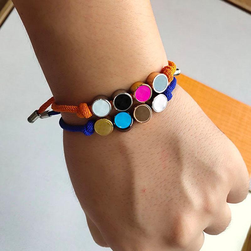 Bracciale Perle fortunato Rope Bracciale Uomini Donne Hip Hop Jewelry esterna Via accessori regalo di festival Colore Classic Logo