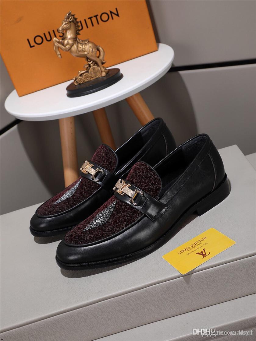 19FW новый список брендов змеиной кожи кожаная обувь мужчины роскошные мужские туфли печатных бизнес оксфорды формальная обувь мужчины размер 38-44 LISY1