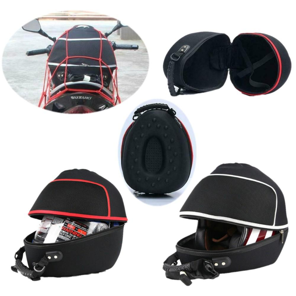 Motorcycle Full Helmet Bag Knight Back Seat Storage Carrier Case Protection Outdoor Motorcycle Cycling Equipment Handbag Backpack