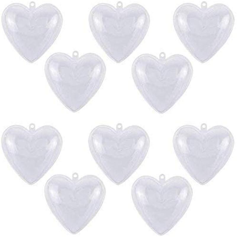 Chiaro plastica ornamenti palle a forma di cuore Palla Natale Fillable Baubles apribile sfera trasparente per il compleanno Wedding le decorazioni