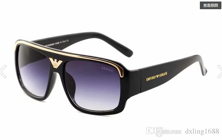 الرجال العلامة التجارية خمر ساحة نظارات عدسة النظارات الملحقات الذكور نظارات الشمس للرجال النساء التمساح 290