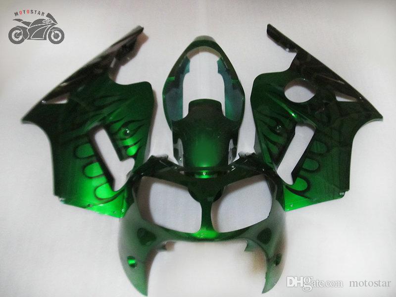 Injectie ABS Plastic Verklei voor Kawasaki Ninja ZX12R 2000 2001 ZX 12R 00 01 Groene weg Racing Chinese Fairing Lichaamsdelen