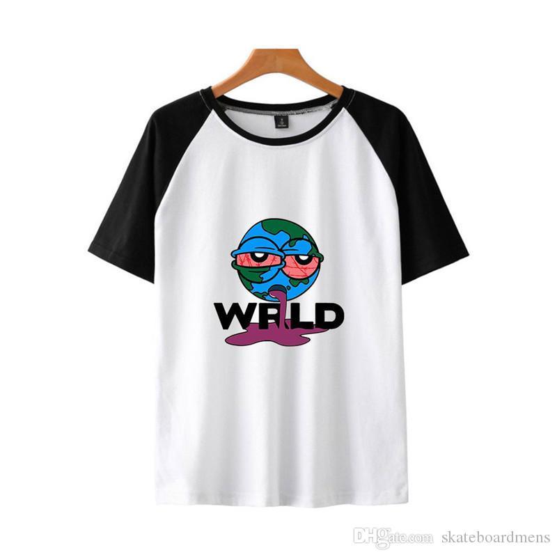 Suyu wrld Erkek Tasarımcı tişörtleri Moda Dijital Baskı Kasetli Kısa Kollu Erkek Tees Casual Erkek Giyim