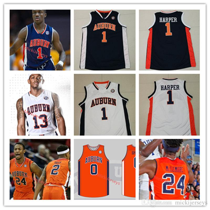 2019 Mens Custom Ncaa Auburn Tigers Basketball Jersey Jared Harper Bryce Brown Horace Spencer Preston Cook Austin Wiley Auburn Tigers Jersey From