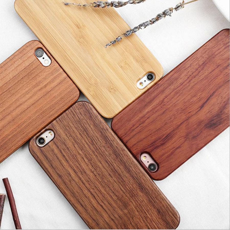 Grabado de lujo cubierta de madera de madera de bambú natural tallado por teléfono al caso para Iphone 11 X XS Max XR 8 6s 7 Plus Samsung S7 S8 S9 S10 Lite Nota 9 8