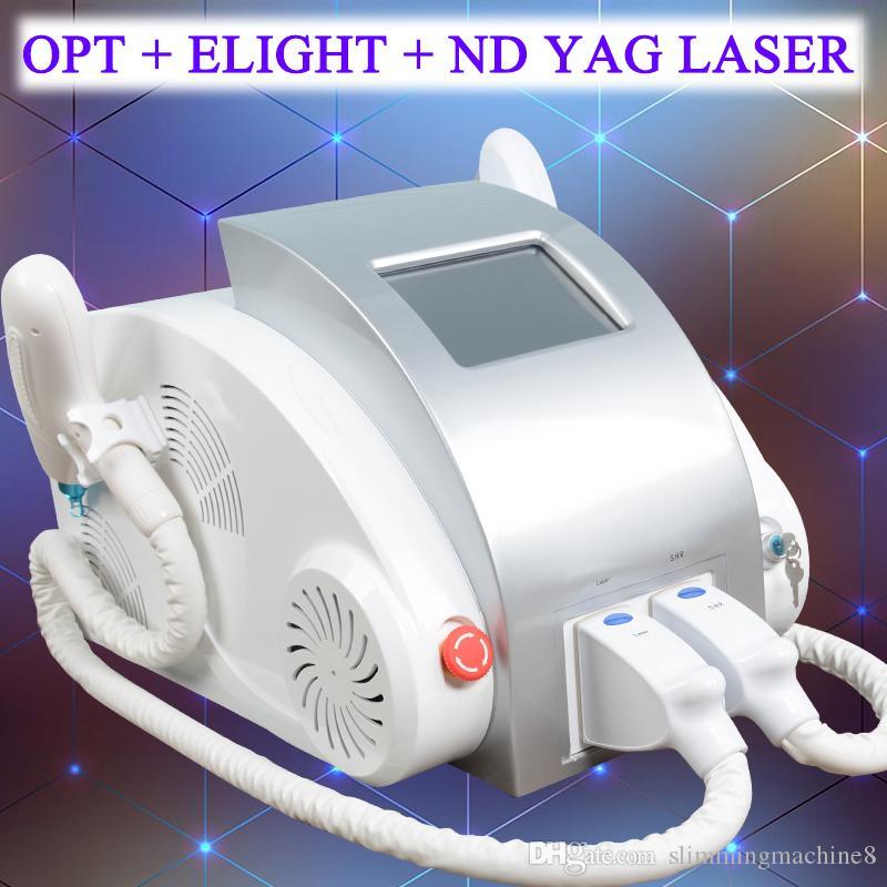 Kaliteli nd yag lazer cilt tedavisi q anahtarı nd yag lazer dövme silme ekipmanları IPL shr elight epilasyon