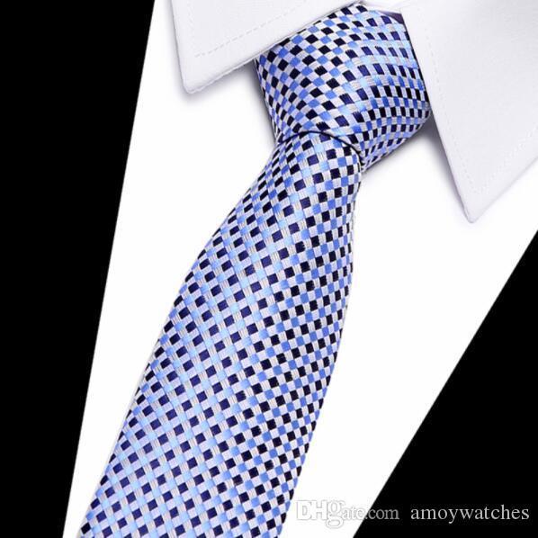 Gravata xadrez de alta moda gravatas para homens de algodão fino gravata gravatas mens gravatas 100% gravata De Seda magro 7.5 cm floral