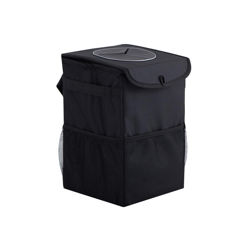 Mini Car Papierkorb Auto beweglicher Träger Schwarz Müll Kann Garbage Car Aufbewahrungsbox für Aschenbecher Zubehör Trash Mülltonne