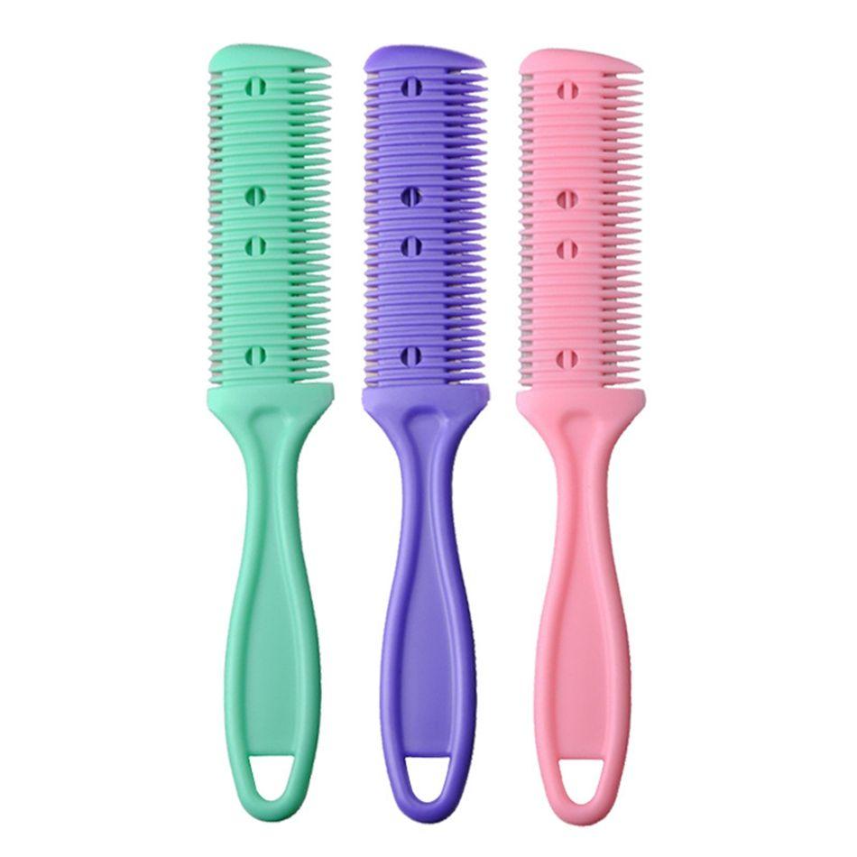 Haar Razor Kamm Griff Haar Razor Schneiden Ausdünnung Comb Startseite DIY Trimmer mit Blade-Haar-Bürste Trimmin Salon LJJP16