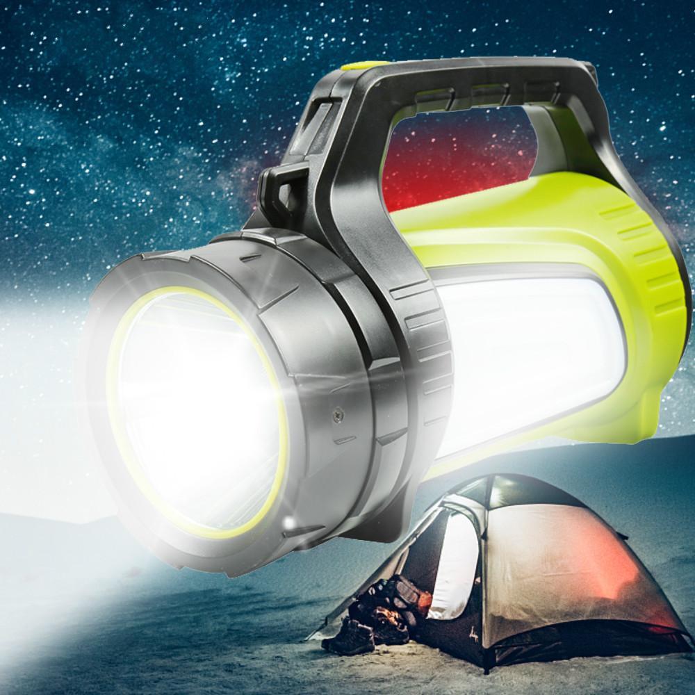 1200m 밝은 강력한 led가 손전등 야외 손전등 전원 은행 4400mAh 충전식 배터리 방수 횃불