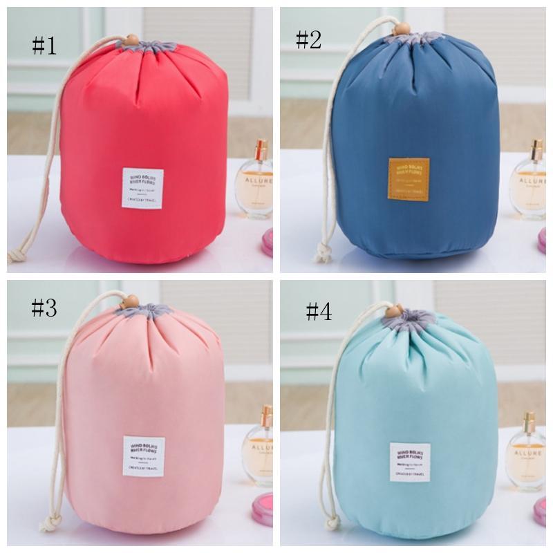 مجموعة مستحضرات التجميل حقيبة ماكياج برميل على شكل حقائب الرباط ماكياج المنظم السفر أدوات الزينة أكياس تخزين الأزياء 4 ألوان الاختياري 50 DSL-YW1707