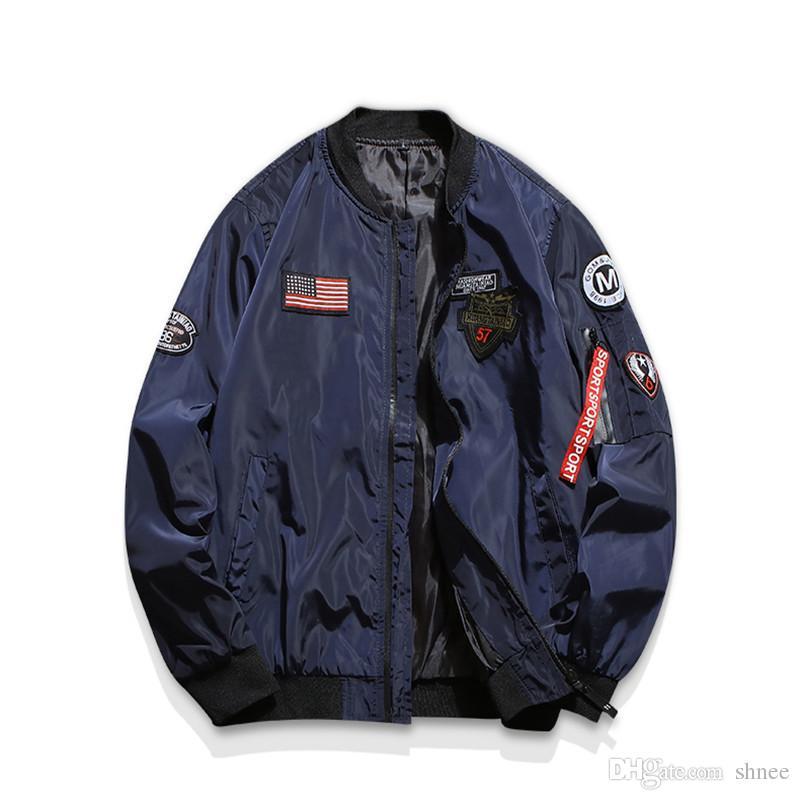 İlkbahar Sonbahar ceket Altın Kanat Ceket MA1 Bombacı Uçuş Genç Erkekler Hip Hop Sokak Giyim Kartal Ceket Asya boyutu