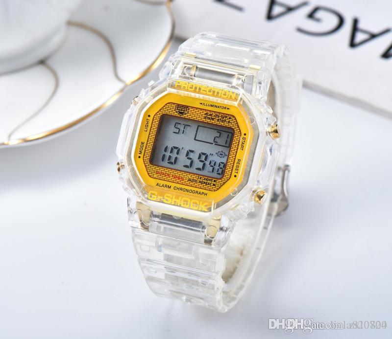 2019 레저 패션 새로운 시계 스포츠 시계 남자 캐주얼 패션 전자 시계