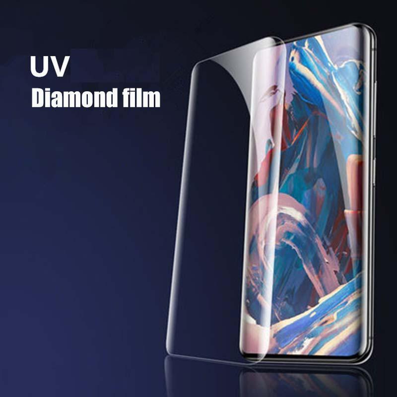ون بلس 1+ 7 برو 3D منحني شاشة الأشعة فوق البنفسجية HD الزجاج المقسى واقية السينمائي حامي لواحد زائد و7T برو موبايل