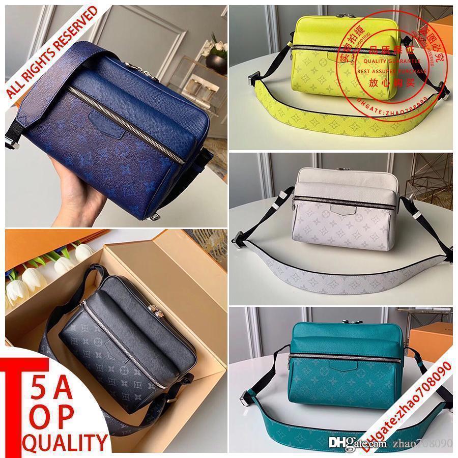 kutu A003 ile 5A en kaliteli MEKAN erkekler Messenger çanta gerçek deri Crossbody çanta Tasarımcı cüzdan kanvas omuz çantası erkekler satchels M30233