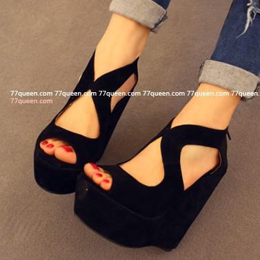 información para dd3e4 1dc9f Compre Nueva Llegada Thin Zapatos Abiertos Del Dedo Del Pie Cuñas Sandalias  De Plataforma De Tacón Alto Plataforma Femenina Zapatos Femeninos A $39.34  ...