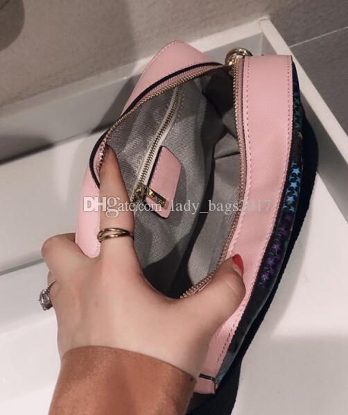 Классическое ведро кожа красочная сумочка рюкзак кошелек поп-кожа настоящий crossbody реальные мешки конфеты женщины плечо мешок мешок FSTPK