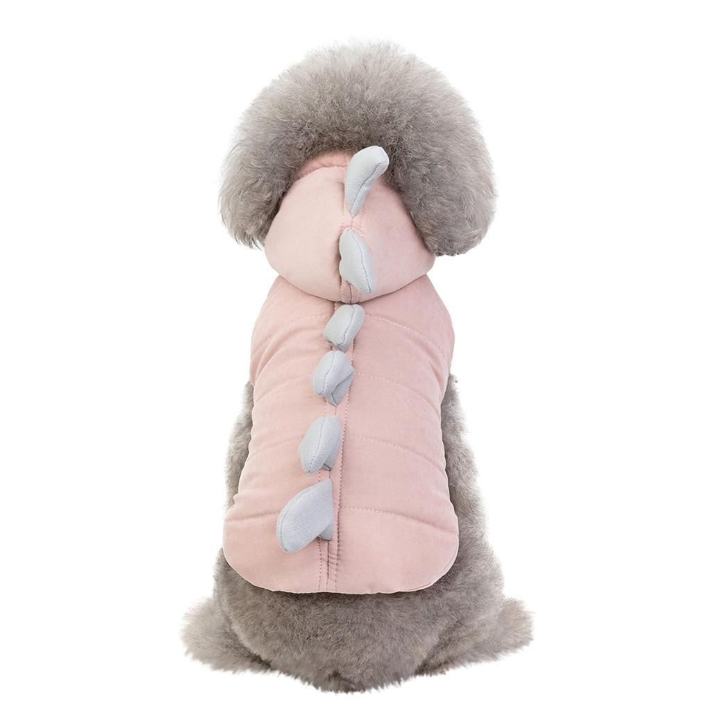 Pet Cosplay cappotto dinosauro del gatto Vestiti del cane Pet Fashion dinosauro cappotto di autunno e inverno, tenere al caldo del gatto Vestiti del cane cappotto solido