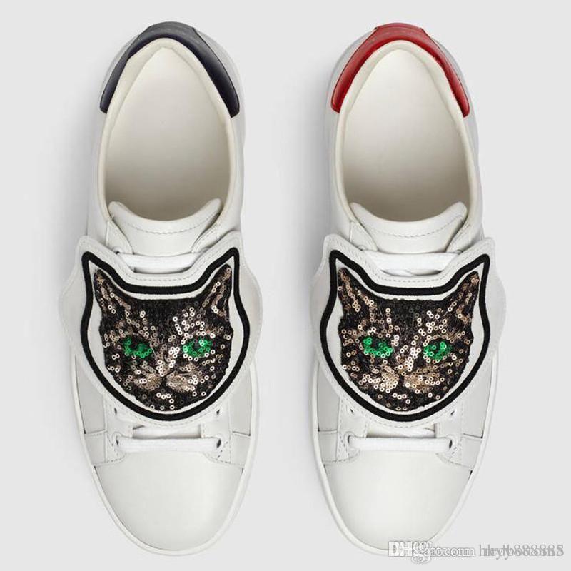 Дизайнерские кроссовки Ace кожаные кроссовки из натуральной кожи кроссовки мужчины женщины Классическая повседневная обувь питон тигр пчела цветок вышитый петух