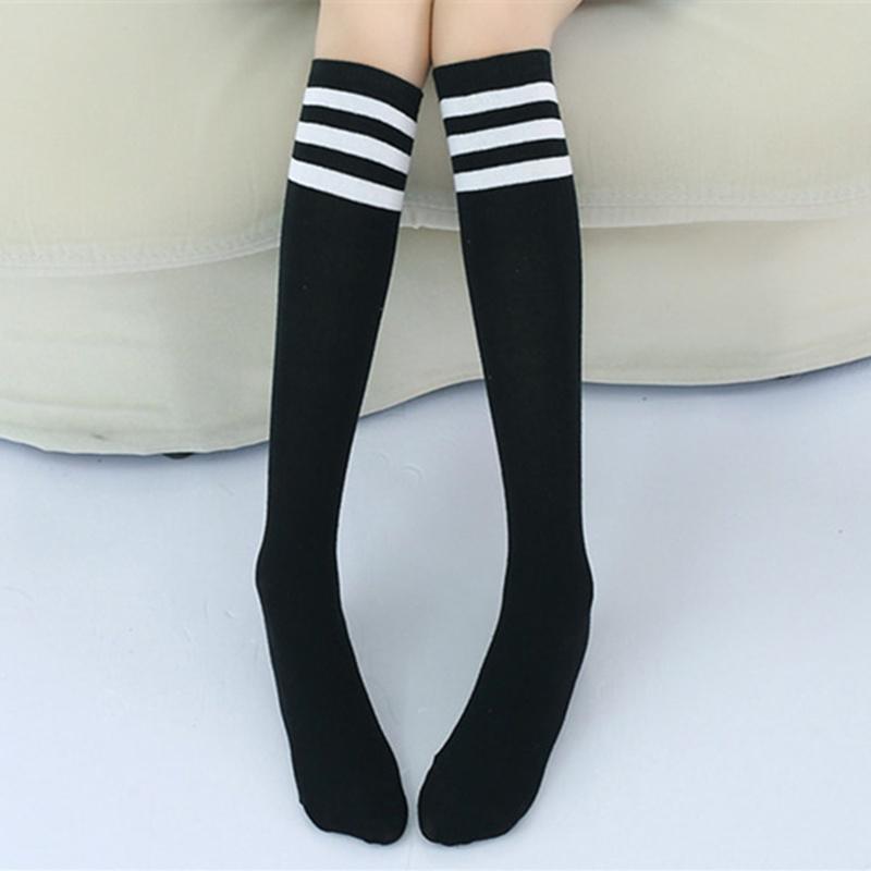 Knee High Socks for Baby Boys Cotton Lovely Stripe Over Knee Socks for Princess Girls Long Sock