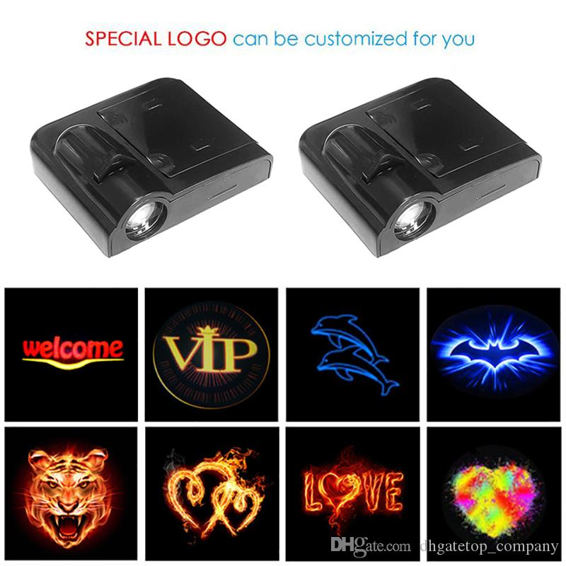 1PCS Wireless Led Car Door Welcome Laser Projector Logo Ghost Shadow Light for Volkswagen Ford BMW Toyota Hyundai Kia Mazda Audi