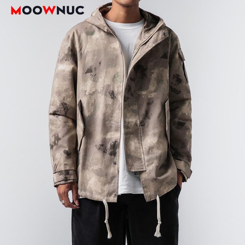 Giacchette Abbigliamento da esterno Hombre Denim cappotti 2020 uomini di Solid MOOWNUC Hip Hop Kpop Moda allentati vestiti molla del vestito Ragazzi casuale MWC