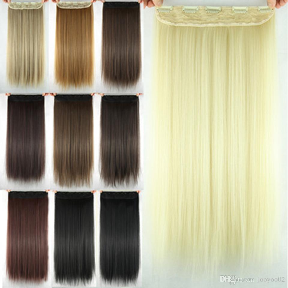 Chemical Fiber diritto Clip di capelli cortina di soldi caldi dei capelli di estensione ad alta temperatura dei capelli seta jooyoo clip
