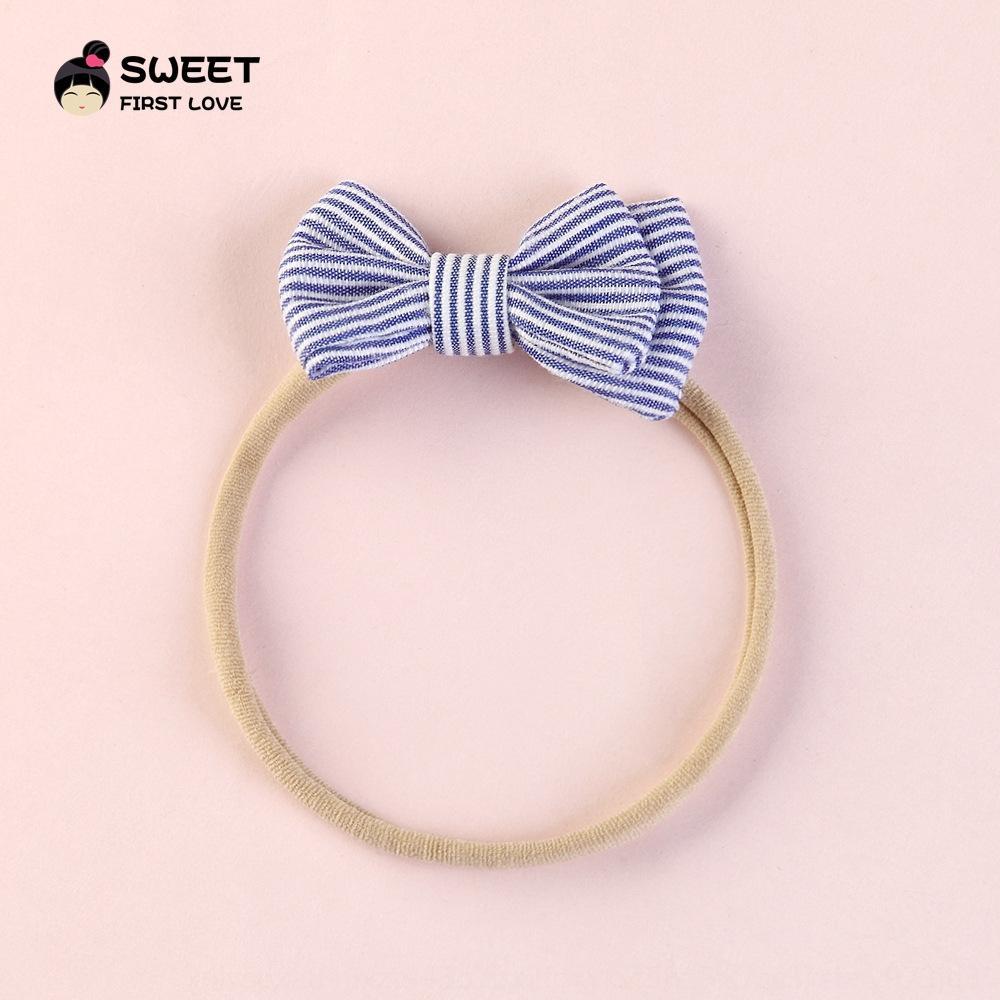 O2un6 Kendinden üretilen Kore tarzı Kelebek Headdress sevimli moda çizgili kumaş çocuk bebek pruva saç halka Kendinden üretilen Kore tarzı Bu