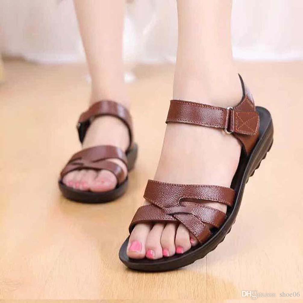 bayan ayakkabı Sandalet Yüksek Kaliteli topuklu Sandalet Terlik Huaraches terlik shoe06 PL133 için Floplar loafer'lar ayakkabı çevirin