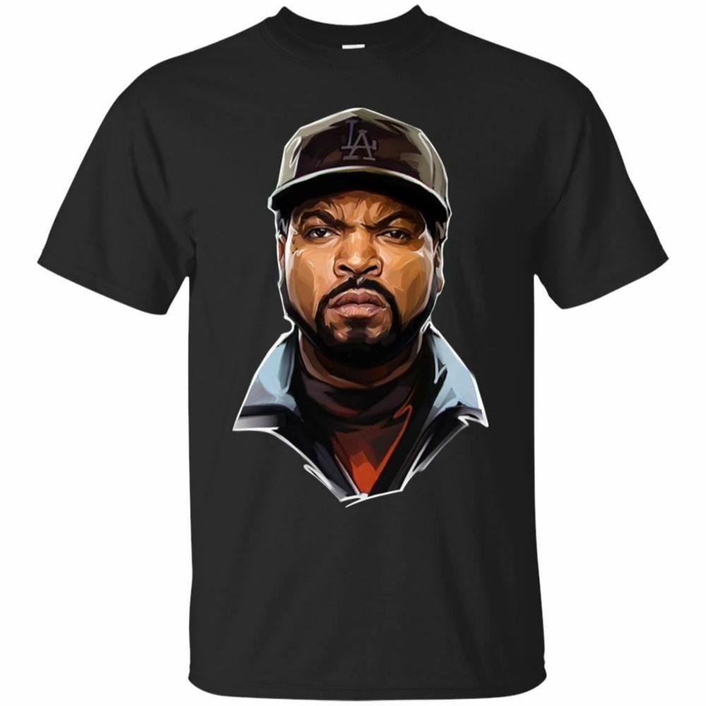 Ice Cube T-shirt Cube Hip Hop Rappers homens de camisetas de manga curta 2019 New Verão Casual O pescoço solto Básico Foto Camisetas