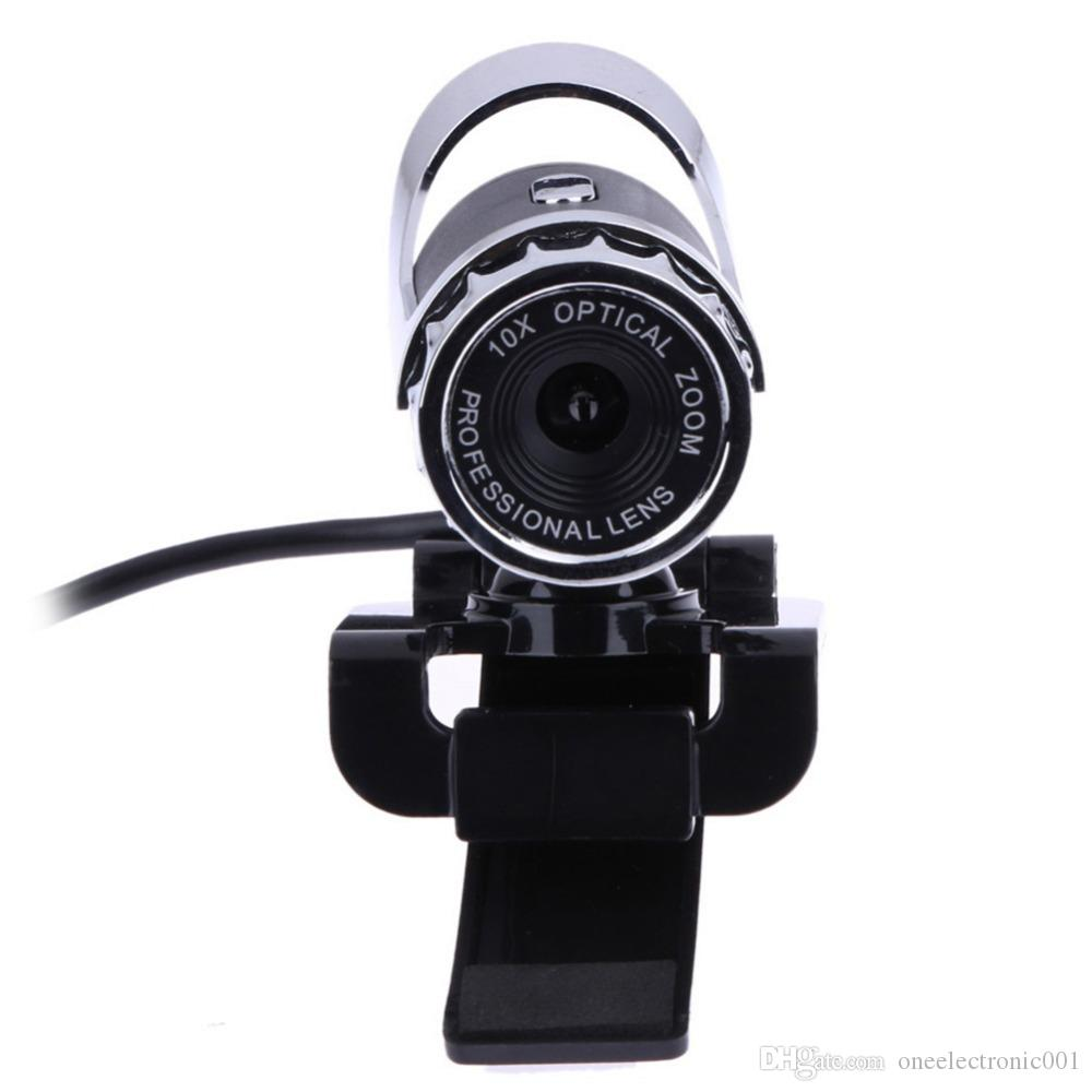 WEB Webcam USB High Definition Camera Web Cam 360 Degree MIC Clip-on for Skype Computer PC Laptop Camera
