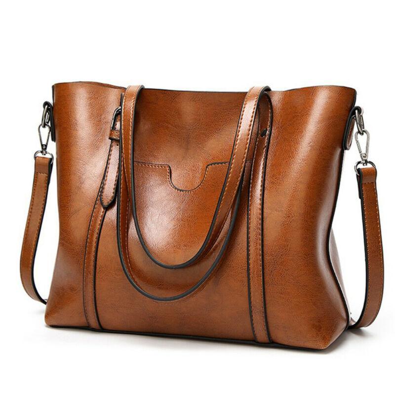 Çanta Cep Kadınlar Messenger Çanta Büyük Tote ile Bayan çanta Yağ mumu Kadın Deri Çanta Lady El Çantaları